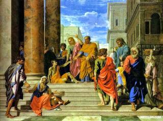 Nicholas Poussin Healing the Lame Man
