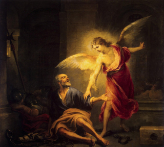 Angel leads peter out of prison
