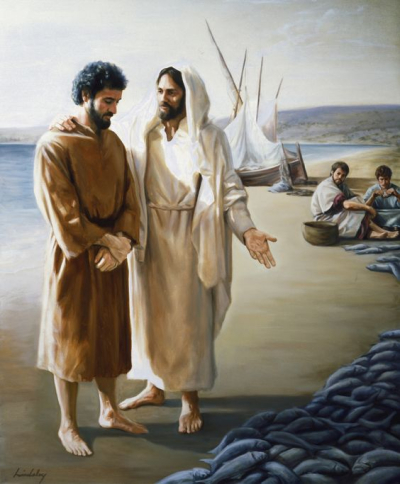 Jesus calls Peter